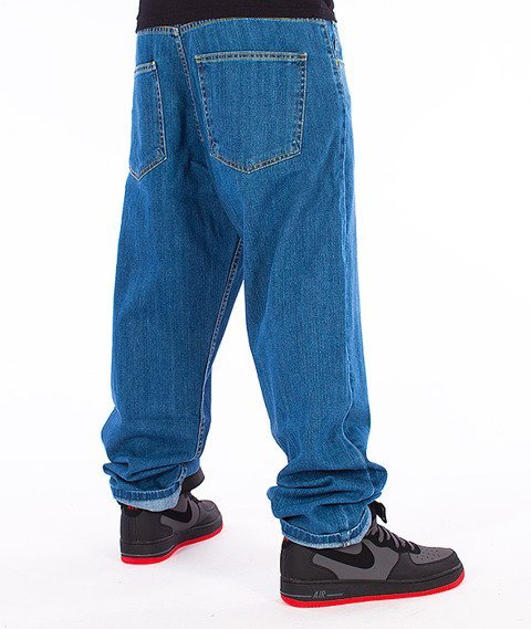Unhuman-Baggy Jeans Spodnie Medium Blue