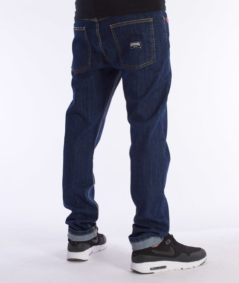 Unhuman-Klasyk Slim Spodnie Jeans Blue