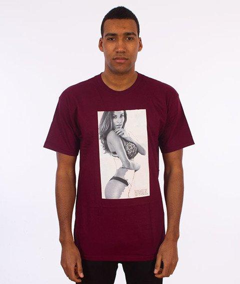 Visual-Erased T-Shirt Burgundy