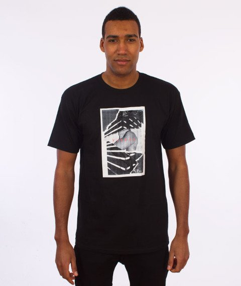 Visual-Torn T-Shirt Black