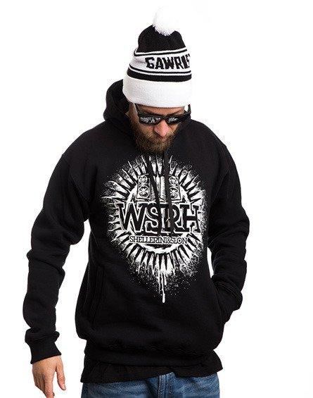 WSRH SŁOŃCE Bluza z Kapturem Czarny/biały