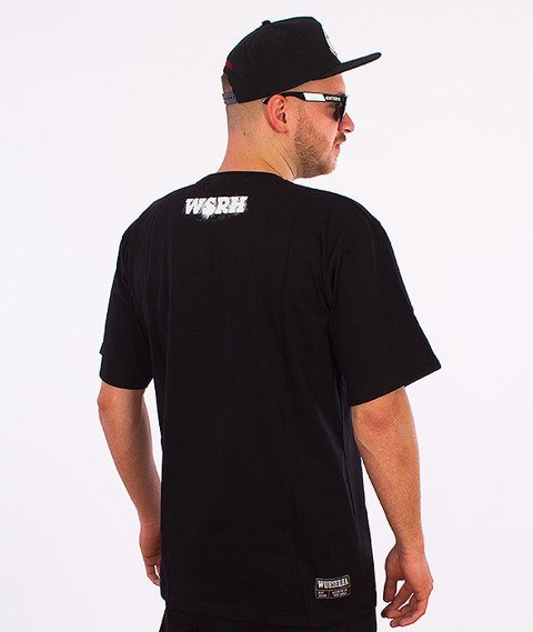 WSRH-Słońce Spray T-Shirt Czarny/Pomarańczowy