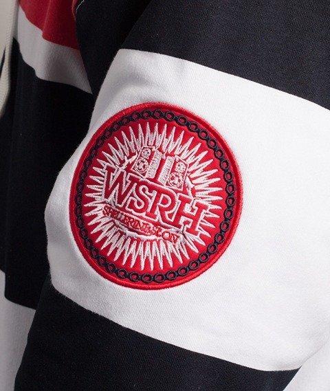 WSRH-Stripes Bluza Kaptur Granatowa/Biała