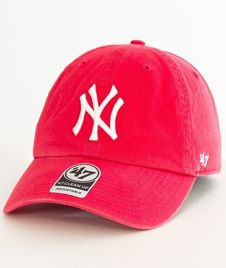 47 Brand-Clean Up New York Yankees Czapka z Daszkiem Koral