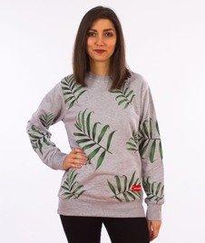 Alkopoligamia-Loveyourlife Palms Bluza Damska Szara