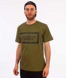 Backyard Cartel-Label Logo T-Shirt Khaki