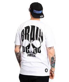 Brain Dead Familia SKULL T-SHIRT Biały