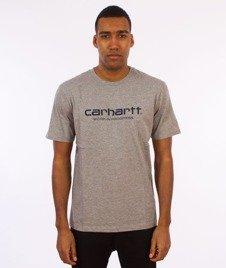 Carhartt WIP-WIP Script T-Shirt Grey Heather/Navy