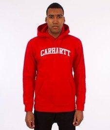 Carhartt WIP-Yale Hooded Sweat Bluza Kaptur Chili/White