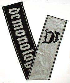Demonologia-Gothic Szalik Czarny/Biały
