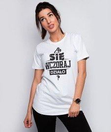 Diamante-Co Się Wczoraj Działo? T-shirt Damski Biały