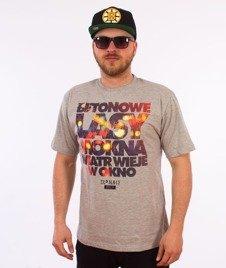 El Polako-Betonowe T-Shirt Szary