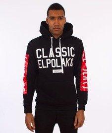 El Polako-Classic Elpolako Hoody Bluza Kaptur Czarna
