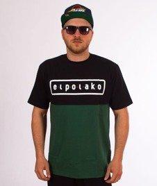 El Polako-Classic Style T-Shirt Czarny/Zielony