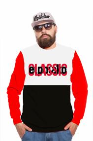 El Polako HALF CLASSIC Bluza Czarny/Czerwony