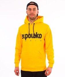 El Polako-Kangurka Classic Logo Bluza Kaptur Żółta