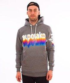 El Polako-Kangurka Colors Bluza Kaptur Ciemny Szary