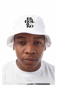 El Polako LETTERS Bucket Hat Biały