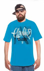 El Polako-Lines Handmade T-Shirt Błękit