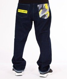 El Polako-Moro Triangle Spodnie Baggy Jeans Dark Blue