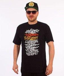 El Polako-Multiline T-Shirt Czarny
