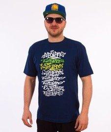 El Polako-Multiline T-Shirt Granatowy