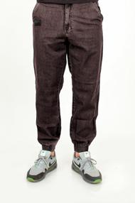 El Polako SKÓRKA Jogger Jeans Slim z Gumą Spodnie Czarny