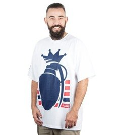 Familia Wear-Granat Stripes T-Shirt Biały