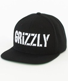 Grizzly-Stamp Snapback Black