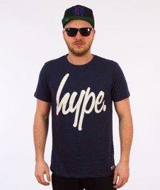 Hype-Basic Logo T-Shirt Ocean Fleck