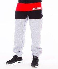 Illegal-Illegal Red Spodnie Dresowe Szare