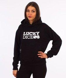 Lucky Dice-Classic Hoodie Girl Bluza Kaptur Damska Czarna
