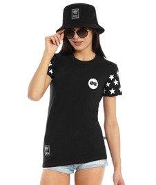 Lucky Dice-Stars T-Shirt Damski Czarny