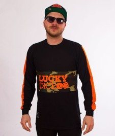 Lucky Dice-Stripe Cut Longsleeve Czarny/Pomrańczowy