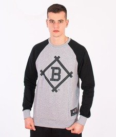 Majestic-Brooklyn Dodgers Dallin Crewneck Grey/Black