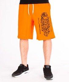 Mass-Disruption Spodnie Dresowe Krótkie Orange