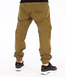 Mass-Signature Sneakers Fit Jogger Khaki