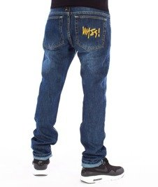 Mass-Signature Tapered Fit Jeans Dark Blue