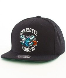 Mitchell & Ness-Charlotte Hornets Wool Solid SB INTL225