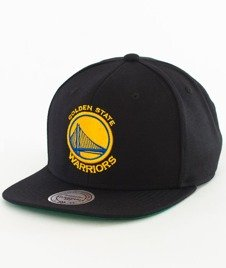 Mitchell & Ness-Golden State Warriors Solid Team Colour Snapback GAS022 Black