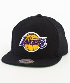 Mitchell & Ness-Los Angeles Lakers Solid Team Colour Snapback NL99Z Czarny