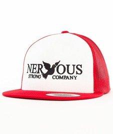 Nervous-Classic Snapback Tirówka Biała/Czerwona