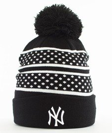 New Era-Spot Stripe New York Yankees Czapka Zimowa Czarna