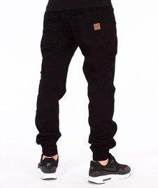 Patriotic-Jogger Tkanina Spodnie Czarne