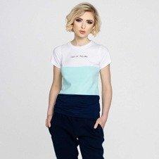 Patriotic Lady of Poland Trio T-Shirt Biały/Miętowy