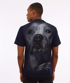 Pit Bull West Coast-California Dog T-Shirt Granatowy