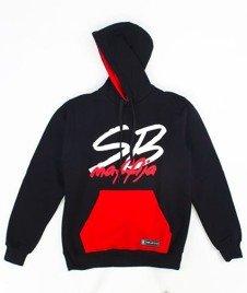 SB Maffija-Big Logo Bluza Kaptur Czarna/Czerwona