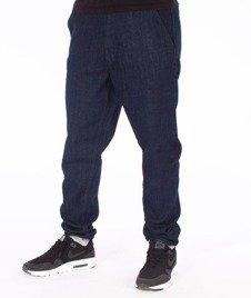 SmokeStory-Jogger Slim Jeans Szary Dół Spodnie Dark Blue