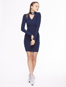 SmokeStory-Logo Bodycon Dress Sukienka Granatowa