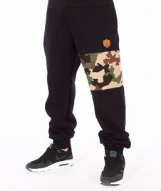 SmokeStory-Moro Part Jogger Spodnie Dresowe Czarne/Camo